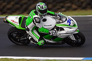 Motorcycle sport - A Supersport bike at Phillip Island.
