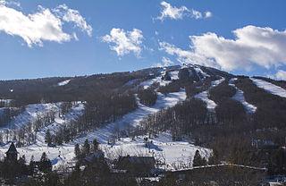 Mount Snow Ski resort in Vermont, United States