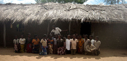 Pupils in front of their school in Nampula, Mozambique Mozambique school.jpg