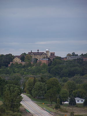 St. Lawrence Seminary High School - Seminary from the south