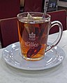 Mug of Earl Grey tea, Cafe Express, York Way, London, England 02.jpg