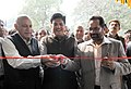 Mukhtar Abbas Naqvi along with the Minister of State for Power, Coal, New and Renewable Energy and Mines (Independent Charge), Shri Piyush Goyal and the Minister of State for External Affairs.jpg