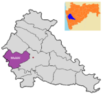 Mulshi tehsil in Pune district.png