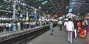 Inside Mumbai CST station