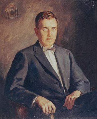 Edmund Muskie - Muskie's legacy portrait to commemorate his term as the 64th Governor of Maine (1955 to 1959).