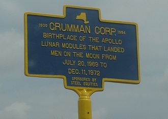 Bethpage, New York - NYS Historic Marker for the Grumman Corporation