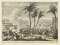 Napoleon defeating the Mamelukes, at the battle of the pyramids, near Cairo - engraved by Mr. George Cruikshank from the design of Swebach, originally published at Paris, and dedicated to LCCN2013646791.jpg