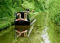 Narrowboat in Woodseaves Cutting, Shropshire - geograph.org.uk - 1590536.jpg