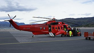 Narsarsuaq Airport - Air Greenland serves all primary heliports in southern Greenland with a Sikorsky S-61N helicopter