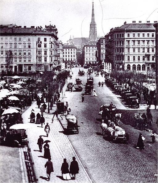 Naschmarkt vienna stephansdom 1872