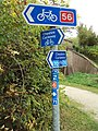 National Cycle Network routes sign near Heath Lane, Willaston.JPG