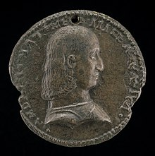 Neapolitan 15th Century, Andrea Matteo III d'Acquaviva, 1457-1528, Duke of Atri and Teramo 1481 (obverse), late 15th century, NGA 44497.jpg