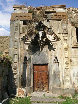 Neghuts Monastery - South entrance to the adjoining gavit of S. Astvatsatsin Church