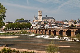 Panoramic view of Nevers, France.