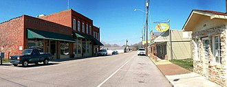 New Hope, Alabama - New Hope's Main Street running through downtown