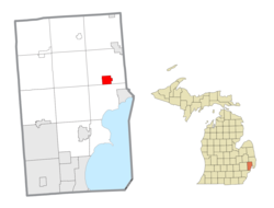 Location within Macomb County