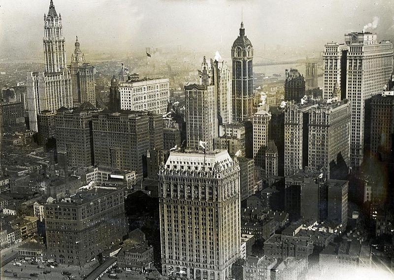 File:New York City aerial view 1919.jpg