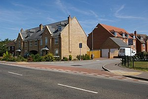English: New housing estate in Downham Market ...