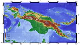 Kaart van Nieuw-Guinea