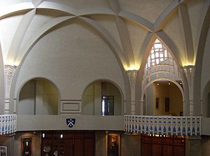 Newman College (University of Melbourne) - Interior of the dining room