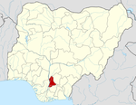 Map of Nigeria highlighting Anambra State