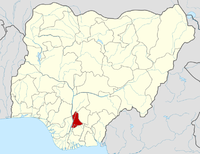 Location of Anambra State in Nigeria