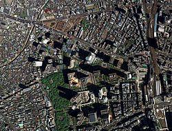 東京都新宿区西新宿の航空写真(2009年4月27日撮影)