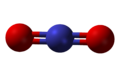 Ball-and-stick model of the nitronium cation