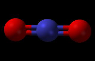 Nitronium ion cation containing nitrogen and oxygen
