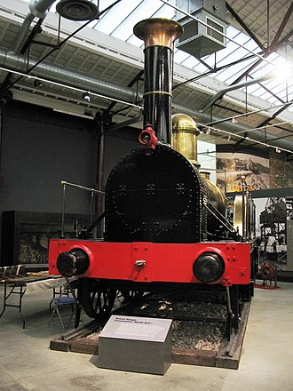 GWR Star Class - North Star replica (built in 1923 using some parts of the original) on display at Swindon, England, 2008