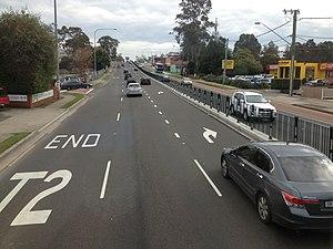 Windsor Road (Sydney) - Northbound Windsor Road at Baulkham Hills