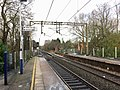 Northern end of Bramhall station, January 2021.jpg