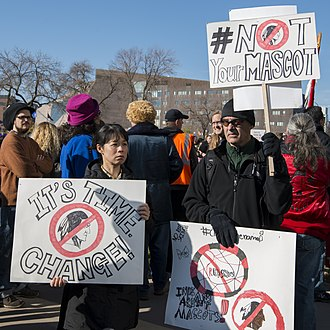 "Washington Redskins name controversy - In November 2014, a demonstration against the use of the name ""Redskins"" was held outside TCF Bank Stadium in Minneapolis, Minnesota before a game against the Vikings."