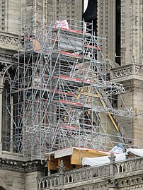 Notre-Dame - 2019-05-31 - Scaffoldings on south tower 01.jpg