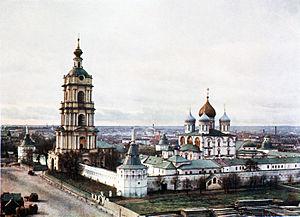 Novospassky Monastery - The New Monastery of the Saviour in 1910