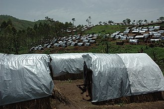 Refugee shelter - Nyanzale camp, DR Congo