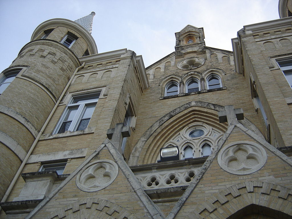 photo of the facade of our lady of the lake university, a spooky san antonio haunted university