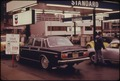 OREGON'S ODD-EVEN PLAN REDUCED THE LINES AT GAS STATIONS DURING THE FUEL CRISIS IN THE FALL AND WINTER OF 1973-74.... - NARA - 555498.tif
