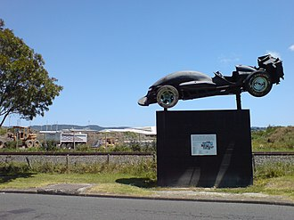Waitakere City - Image: Oblivion Express Racing Statue Henderson