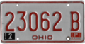 Ohio license plate, 1976–1979 series with February 1980 sticker.png