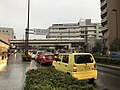 Oike-dori Street and Sagano Line on north side of Nijo Station.jpg
