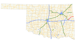 Oklahoma State Highway 100 highway in Oklahoma