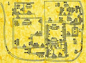 Sungkyunkwan - Image: Old Sungkyunkwan map from 1785