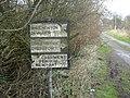 Old road sign, Crick - geograph.org.uk - 347209.jpg
