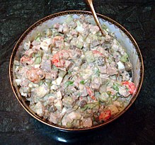 Olivier Russian salad made to the Hermitage restaurant recipe.jpg