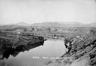 Omak, Washington - View of Omak, 1909