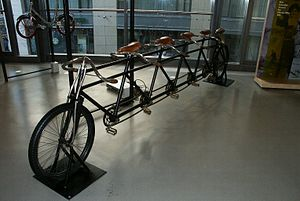 Tandem bicycle - A large tandem, or more specifically, a quint (for 5 people)