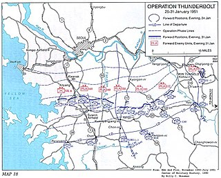 Operation Thunderbolt (1951) United Nations offensive during the Korean War