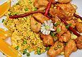 Orange chicken with fried rice (6248047264).jpg