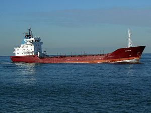 Orateca IMO 8023527 p2 approaching Port of Rotterdam, Holland 21-Feb-2005.jpg